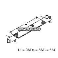 Термоизоляция выхлопной трубы (стекловолокно) L=330 мм | Артикул: 1319670A