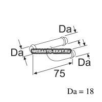 Тройник Ч-образный 18 х18х18    Артикул: 1319266А