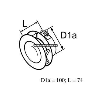 130621 Дефлектор d 100мм (металл)