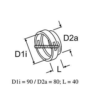 89111B Переходник d=90/80 мм (пластик)