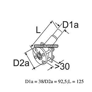 1319428A Проход борта d=38мм (металл)