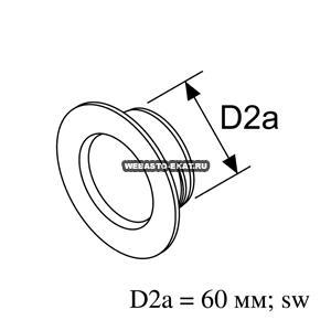 9009249C Проход перегородки Air Top d=60 (пластик)