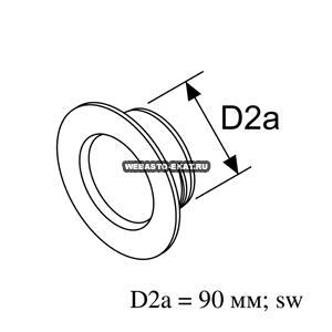 1320924A Проход перегородки d=90 (пластик)