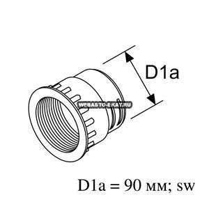 9009240B Муфта d=90 (пластик)