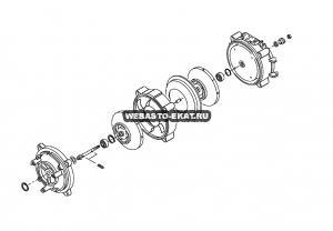402125Z Комплект ремонтный для вала DBW 350 / СЕ