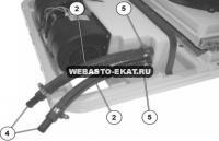 Diavia Portofino. Накрышный блок: штуцеры на выносной компрессор.